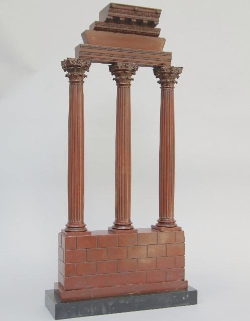 Marble model of the temple of Castor and Pollux, Italy by Unknown Artist