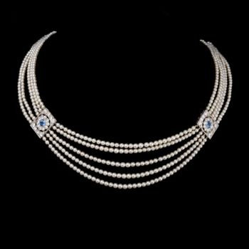 Natural pearl necklace by Unknown Artist