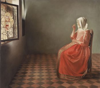 Woman in Red Dress by Mary Alacoque Waters