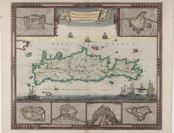 Map of Crete  by Frederick de Wit