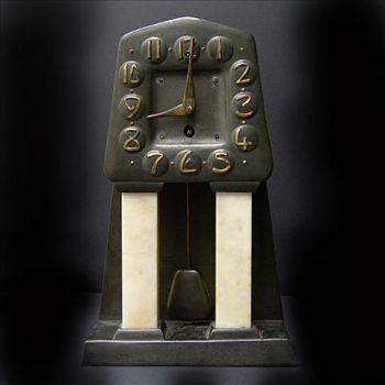 Art deco table clock by Albin Muller