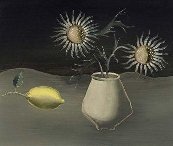 Stilleven met pul en citroen by Tinus van Doorn