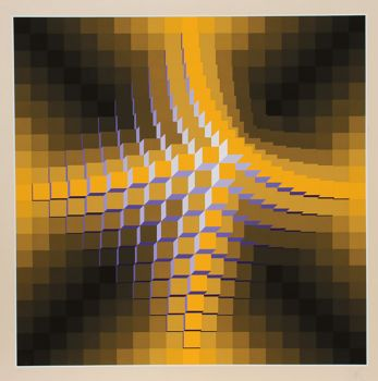 Structures Cubiques by Jean-Pierre Vasarely (Yvaral)