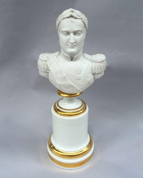 'Porcelaine de Paris' bust of Napoleon by Unknown Artist