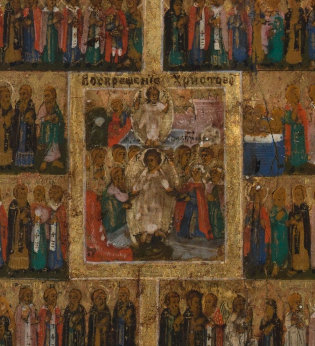 No 11 Year Calendar Icon with all the Saints by Unknown