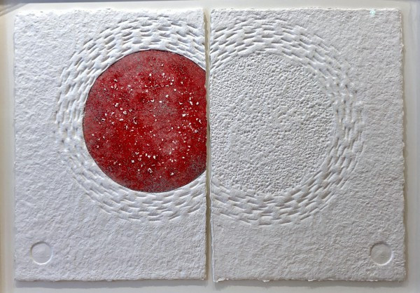 Both sides of the moon, Silver-Red by Conbulius .