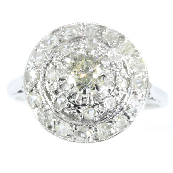 Art Deco diamond cluster ring by Unknown Artist