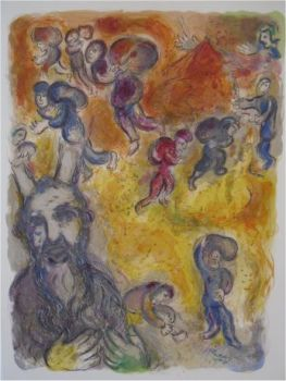 And Mozes saw the burdens of his Brethren by Marc Chagall