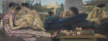 The Siesta  by Lawrence Alma-Tadema