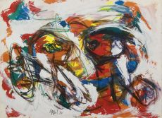 Twee Meisjes (Two Girls) by Karel Appel