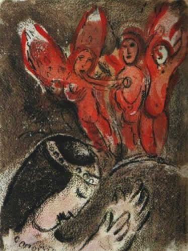 Sara et les Anges by Marc Chagall