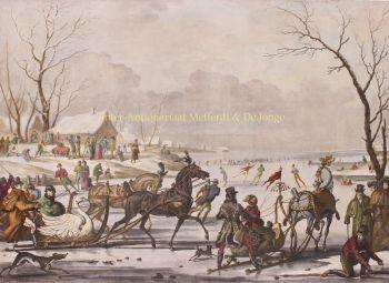 Sleigh racing  by  Antoine Jean Gros after Carle Vernet