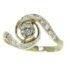 Belle Epoque diamond engagement ring so called tourbillon model or twister by Unknown