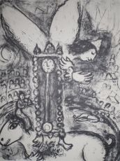 The Clown and the Clock by Marc Chagall