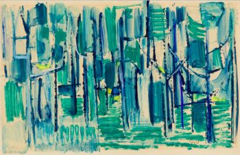 Composition in blue, green and yellow by Geer van Velde