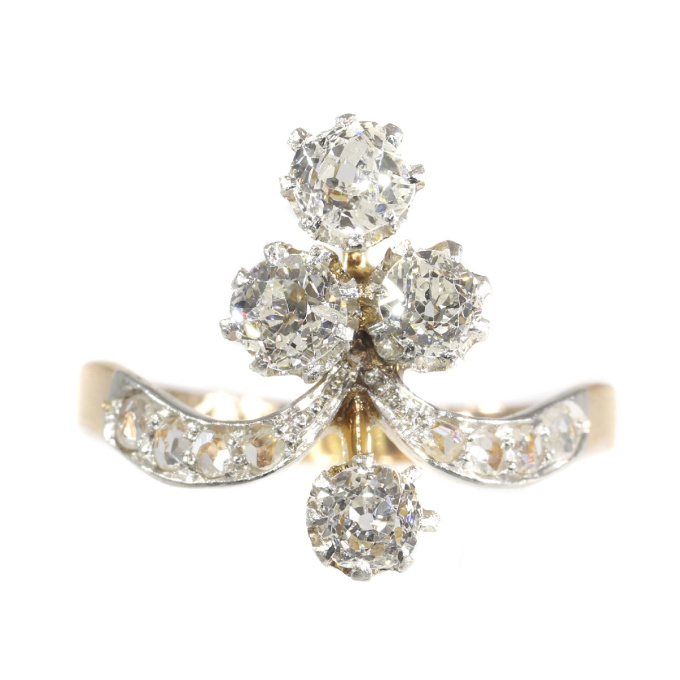 Lovely vintage Belle Epoque diamond engagement ring by Unknown Artist
