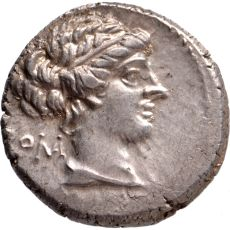 AR Denarius M. Porcius Cato 89 BC by Unknown Artist