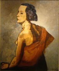 Portrait of Mrs. Kickert  by Conrad Kickert