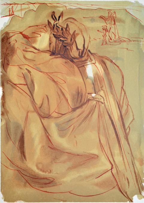 Divina commedia purgatorio 30 by Salvador Dali
