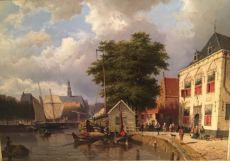 Summerly cityscape of Haarlem by Willem Koekkoek