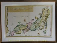 Japan map  by  Durant after Tavernier