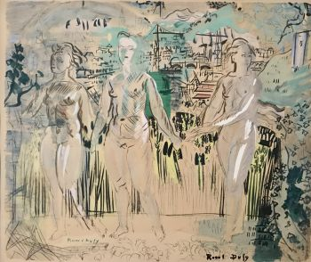 Three graces by Raoul Dufy