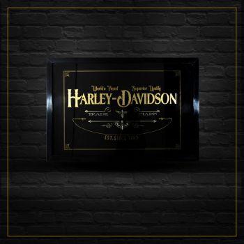 Harley Davidson black -gold by Marcel Timmer