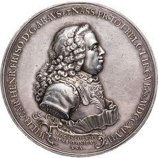 1747.  Penning op verheffing Willem Karel Hendrik Friso tot stadhouder Willem IV