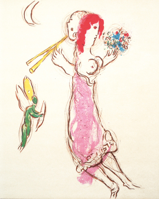 Daphnis and Chloe by Marc Chagall