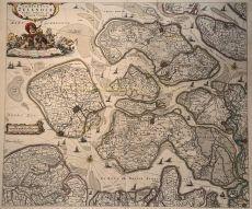 Oude kaart van Zeeland by Visscher, Claes Janszn.