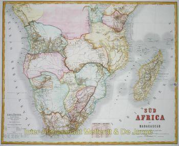 Zuidelijk Afrika by Geographisches Institut te Weimar