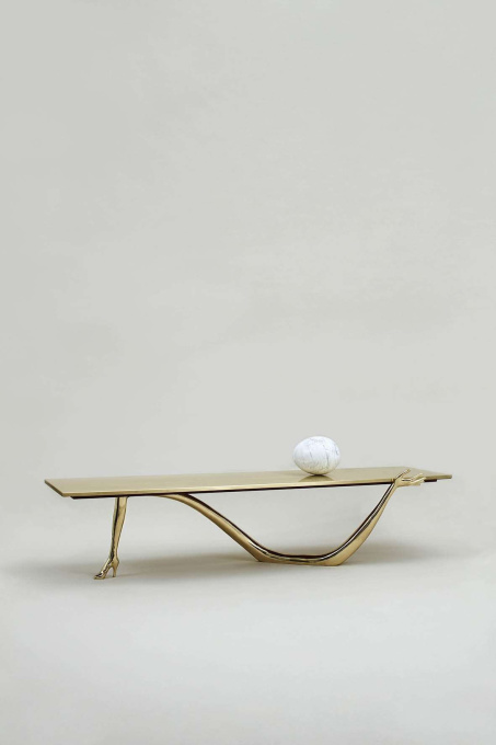 Leda low Table - Sculpture by Salvador Dali