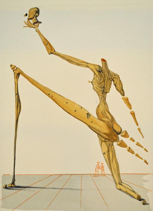 Divina commedia inferno 28 by Salvador Dali