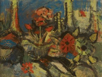 Flowers and trees by Herman Kruyder