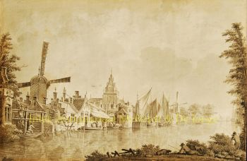 Aan de Oude Rijn  by Dirk Verrijk
