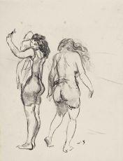 Twee baadsters op het strand by Jan Sluijters
