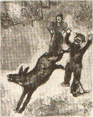 L'Ane et le Chien by Marc Chagall