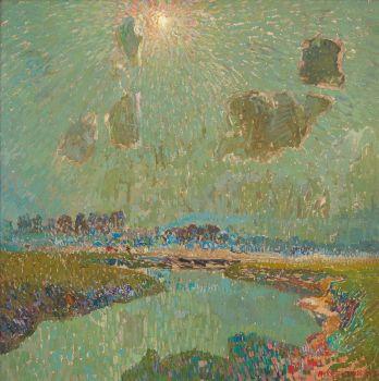 Rayon de Soleil sur La Lys by Albert Saverys