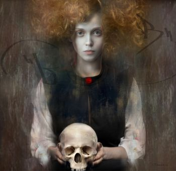 GIRL WITH SKULL by Christine Fokkelman