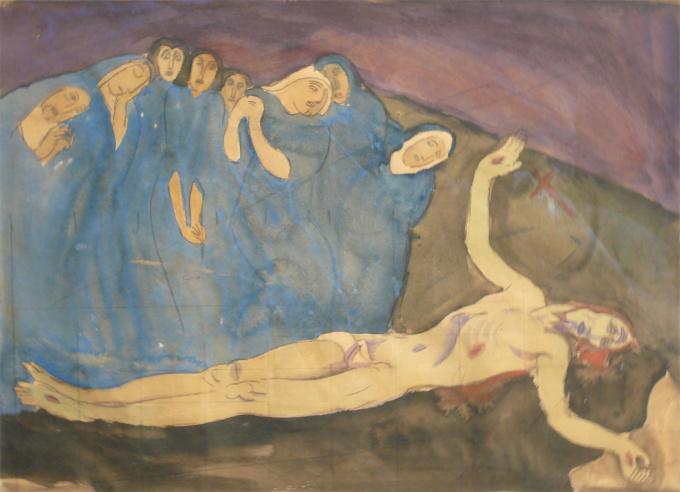 De bewening van Christus by Jan Sluijters