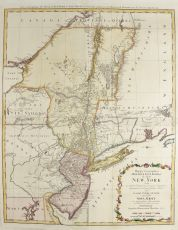 Map New York and New Jersey by Homann Heirs
