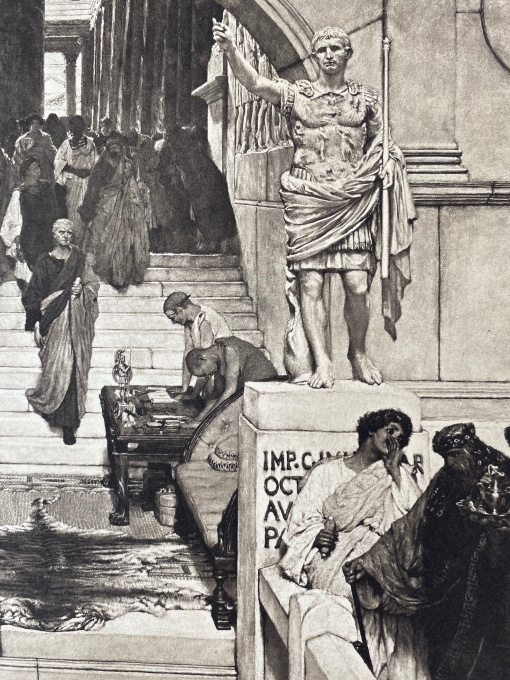 AN AUDIENCE AT AGRIPPA'S by Lawrence Alma-Tadema