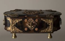 A fine tortoise and silver-gilt mounted sirih casket by Unknown Artist