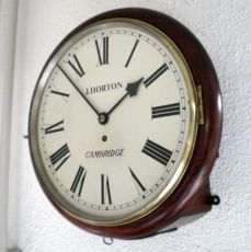 White dial clock