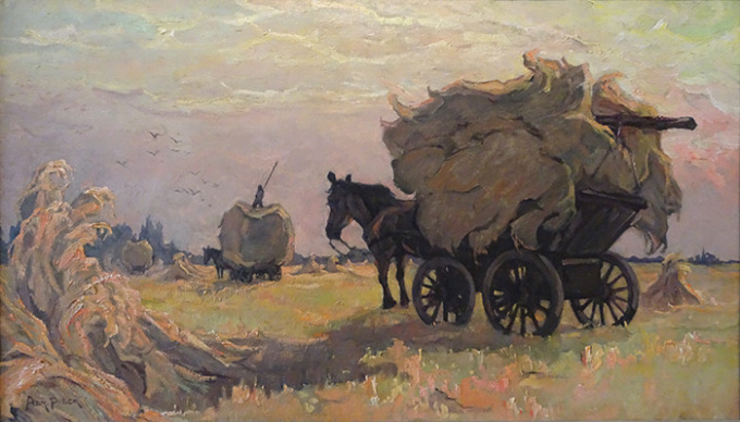 """""""Evening of a harvest day"""" by Adriana Jacoba Pieck"""