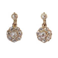 Victorian rose cut diamond earrings by Unknown Artist