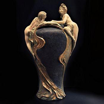 Art Nouveau Vase by Victor Evrard