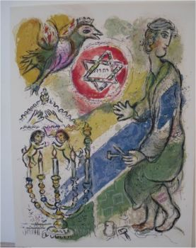 Bezaleel made two Cherubims of gold by Marc Chagall