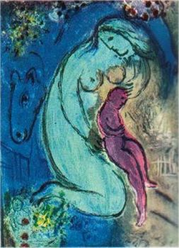 Quai aux Fleurs, 1954 by Marc Chagall