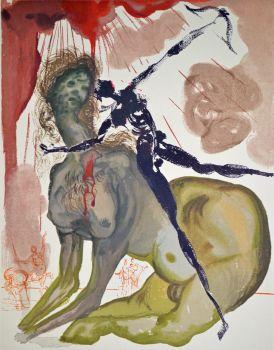 Divina commedia inferno 12 by Salvador Dali
